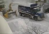Schneeräumen in Kanada
