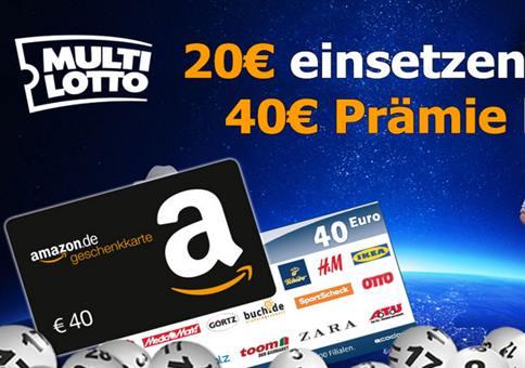 WOW: 40€ Gutschein für 20€ Einsatz!