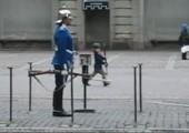 Kind ahmt königliche Garde nach