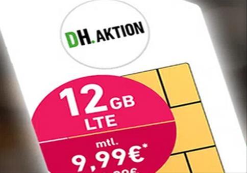 Allnet-Flat inkl. 12GB LTE50, VoLTE und WiFi Call für 9,99€ mtl.