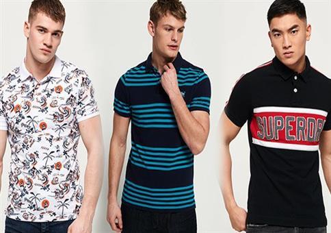 Superdry Herren Poloshirts 34 Modelle und Farben je 21,95€