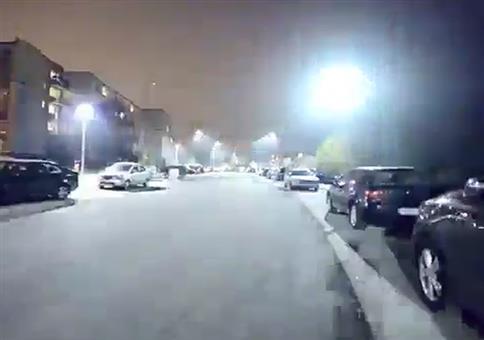 Straßendisko im Wohnviertel