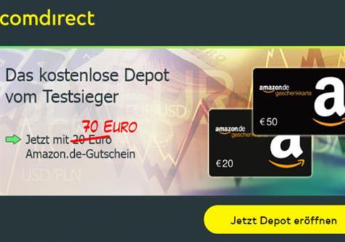 70€ Amazon-Gutschein abstauben