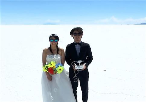 Flitterwochen-Weltreise mit Drohne gefilmt