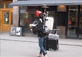 Schwedischer Straßenmusiker