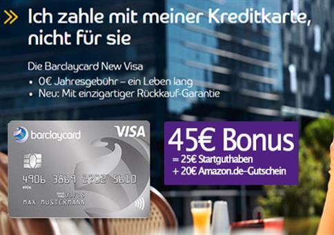 45€ Prämie für beitragsfreie VISA!