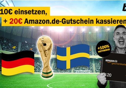 bwin KRACHER: 10€ wetten+20€ Amazon-Gutschein abstauben!