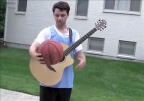 Gitarre und Basketball