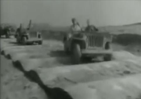 Jeep auf Teststrecke