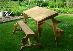 Funktions Gartenbank mit Tisch