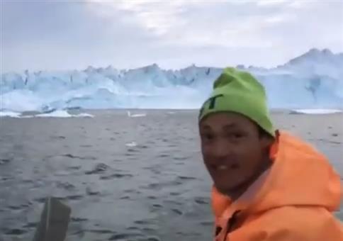Vorsicht! Eisbergwelle!