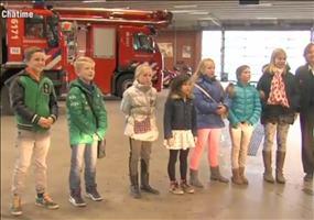 Das Feuerwehrauto als Kinderschreck