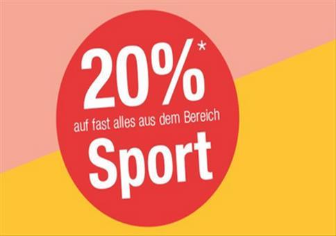 Galeria Kaufhof: 20% Rabatt auf Sportartikel