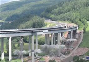 Sprengung der Sinntalbrücke