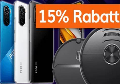 15% Rabatt auf ausgewählte Xiaomi-Artikel