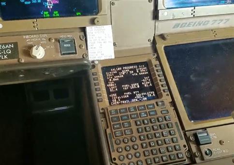 Chemtrailaktivierung im Flugzeugcockpit