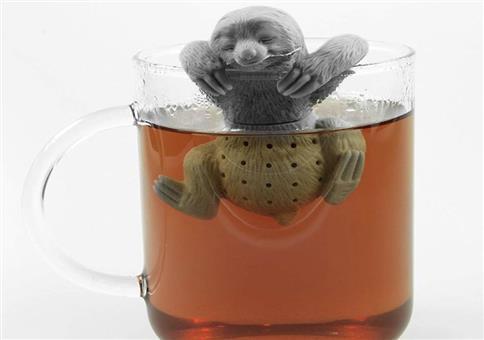 Och wat süüüß! Ein niedliches Faultier Tee-Ei