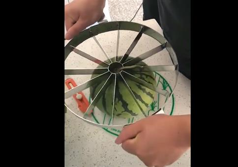 Schon praktisch so ein Melonenteiler