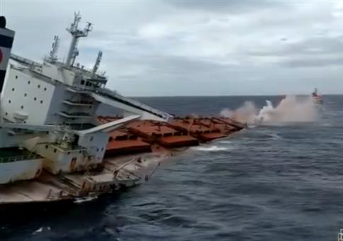 So schnell kann ein Containerschiff sinken