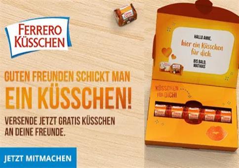 Gratis: Personalisierte Ferrero-Küsschen-Grußbox versenden