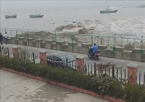 China: Von der Flutwelle überrascht