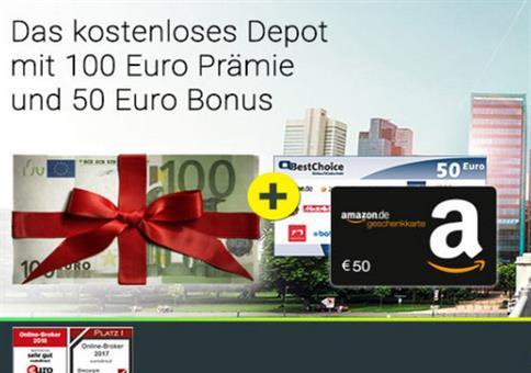 150€ Bonus für kostenloses comdirect Depot