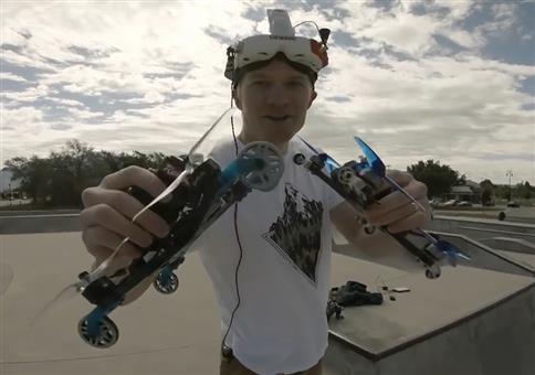 Drohne mit Rädern
