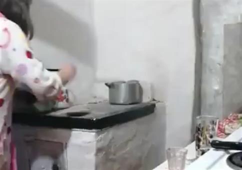 Kleine Explosion beim Kochen