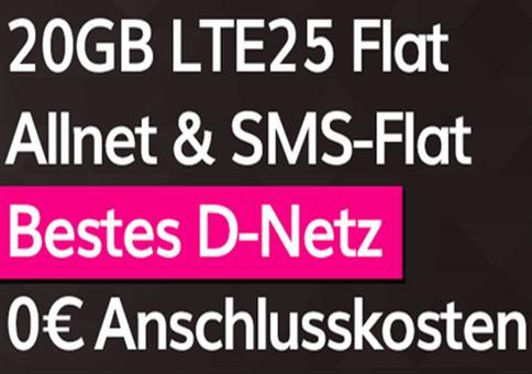 Knaller! 🔥 Telekom Flat mit 20GB LTE für 20€ mtl