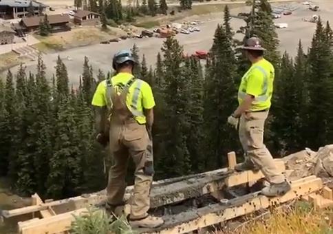 Betonbefüllung aus der Luft