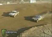 Rallye Auto macht Doubleflip