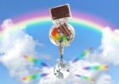 Solarbetriebener Regenbogen