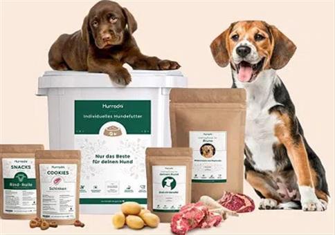 Kostenloses Hundefutter-Testpaket von Hurrado