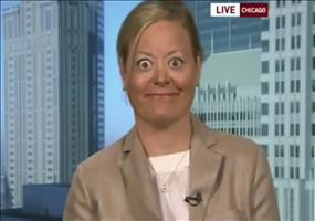 Sie macht große Augen im Live TV
