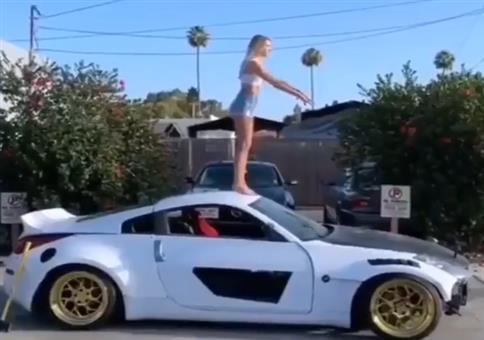 Backflip auf Autodach