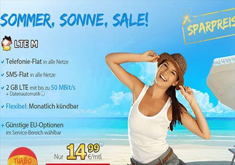 Allnet-Flat + SMS-Flat + 2GB LTE-Surf-Flat für 14,99€