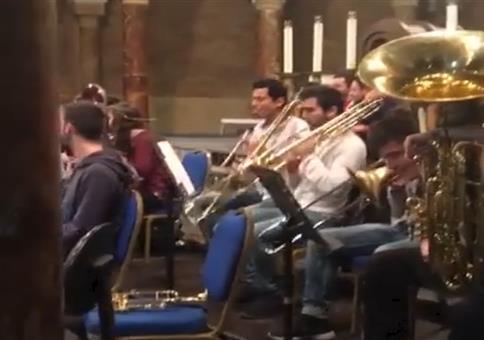 Kleiner Spaß bei der Orchesterprobe