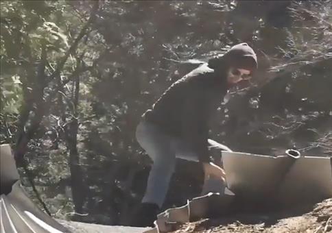 Extrem krasser Skateboard Trick