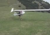 Segelflieger mit Beinantrieb