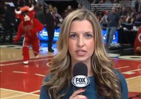 Chicago Bulls Maskottchen trollt Reporterin