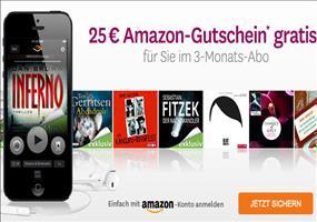 Audible: 3 beliebige Hörbücher für zusammen 4,85€