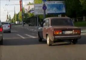 Rache im russischen Straßenverkehr geht schief