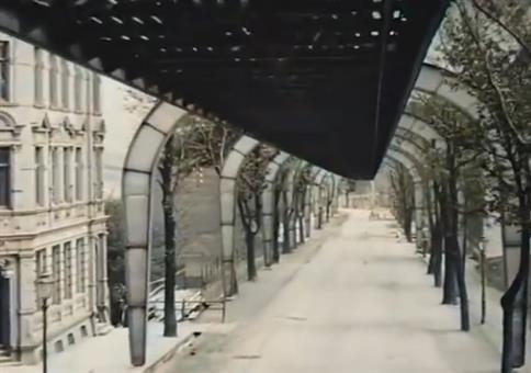 Die Schwebebahn in Wuppertal früher und heute