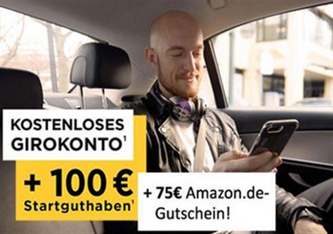 Top: Kostenloses Girokonto mit 175€ Prämie