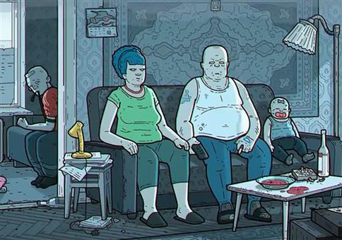 Simpsoni: Russische Version der Simpsons