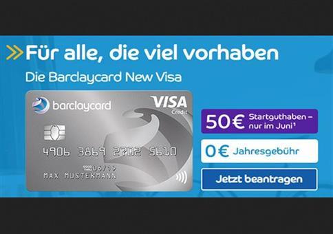 Kostenlose Visa Kreditkarte + 50€ Startguthaben