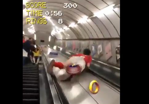 Rolltreppe in der Ubahn runter rutschen - Sonic Edition