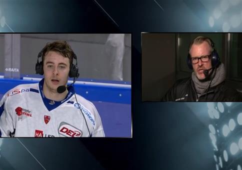 Kleiner Zwischenfall beim Eishockey Interview