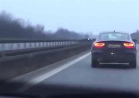 Krasse Verfolgungsjagd auf deutscher Autobahn