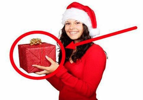 Schlüpfriges Weihnachtsgeschenkpapier